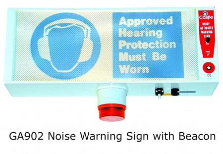 GA902 Castle Noise Activated Warning Sign