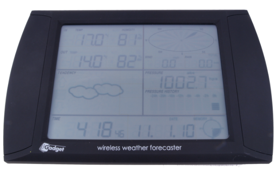 USB Wireless Touchscreen Weather Forecaster for Rent