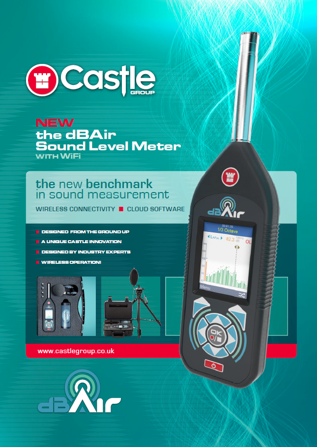 Sound Level Meter for Noise at Work - dBAir Safety Brochure