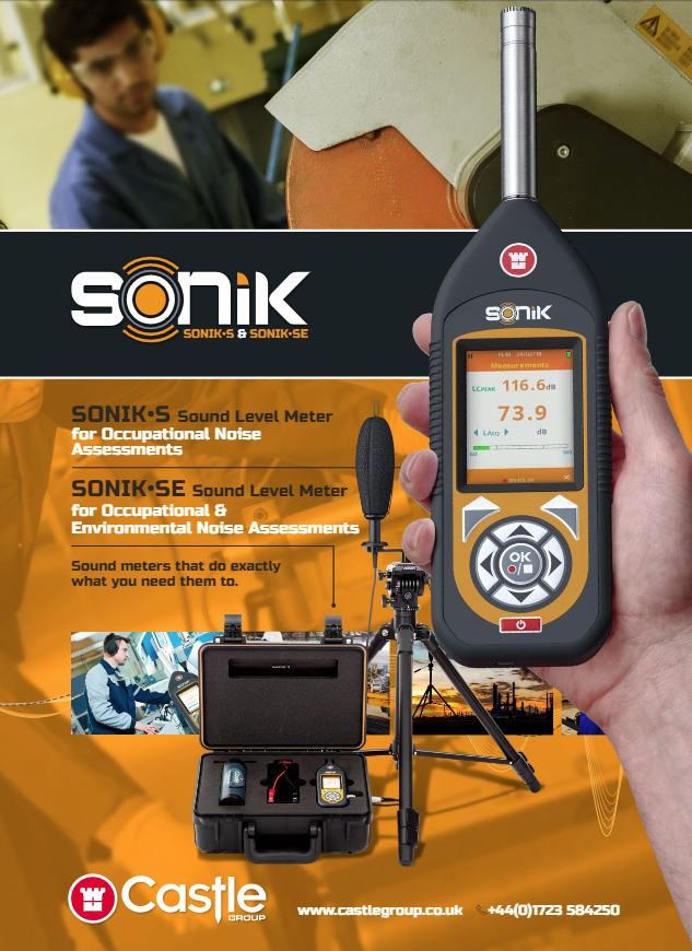 SONIK-SE Sound Level Meter - For Workplace and Environmental Noise Brochure